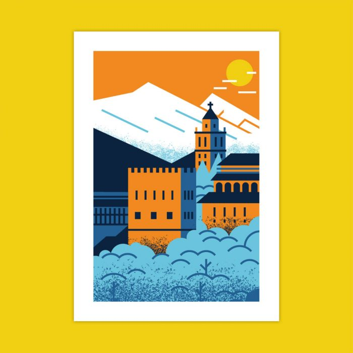 illustration alhambra granada salmorejo studio