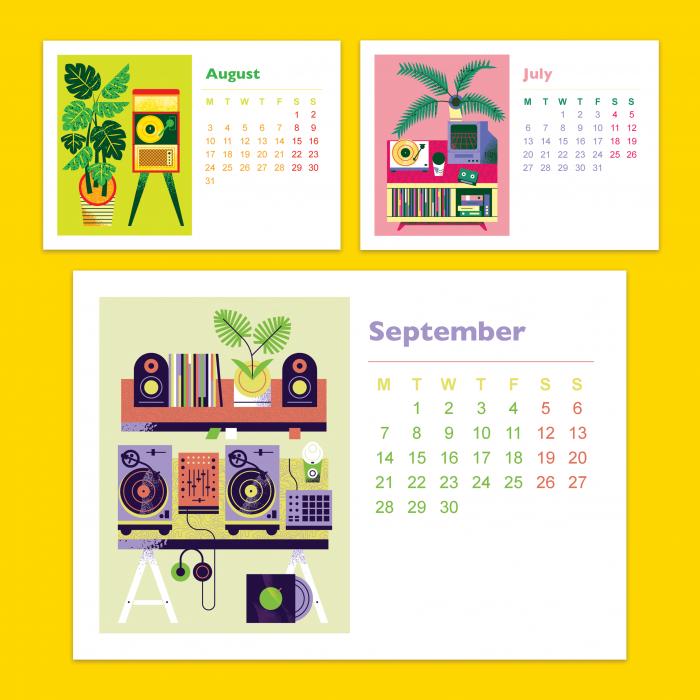 calendario 2020 sobremesa ilustrado