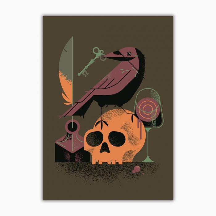 the_raven_edgar_allan_poe_illustration_poster