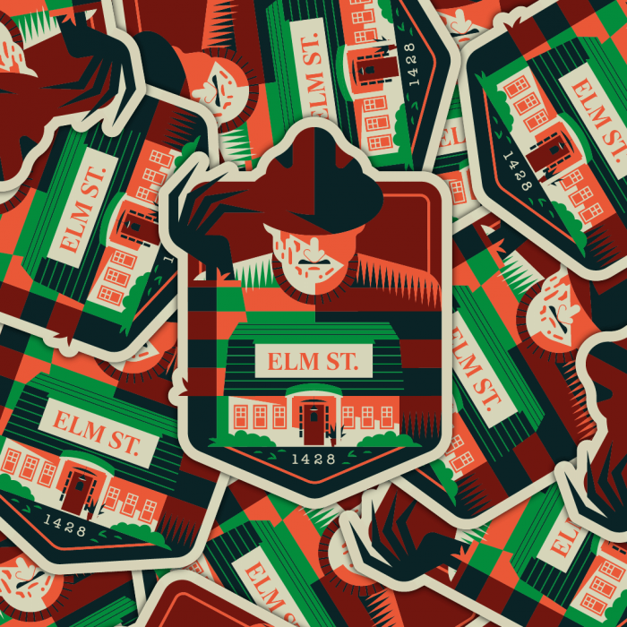Slasher sticker pack Freedy Krueger Nightmare on Elm Street Wes Craven