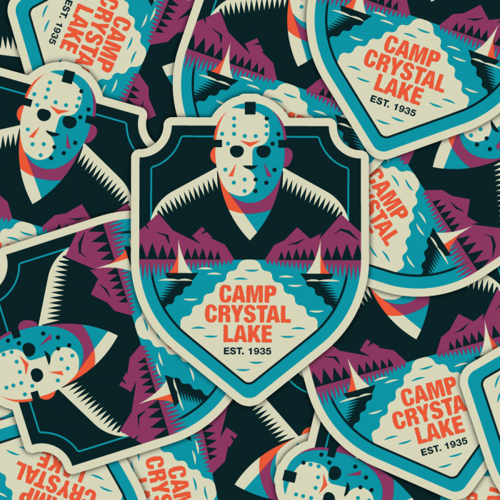 Slasher sticker pack Jason Voorhees Friday the 13th
