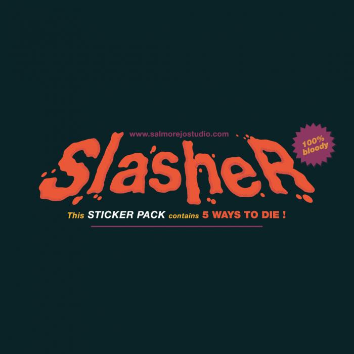 Slasher sticker pack by Salmorejo studio