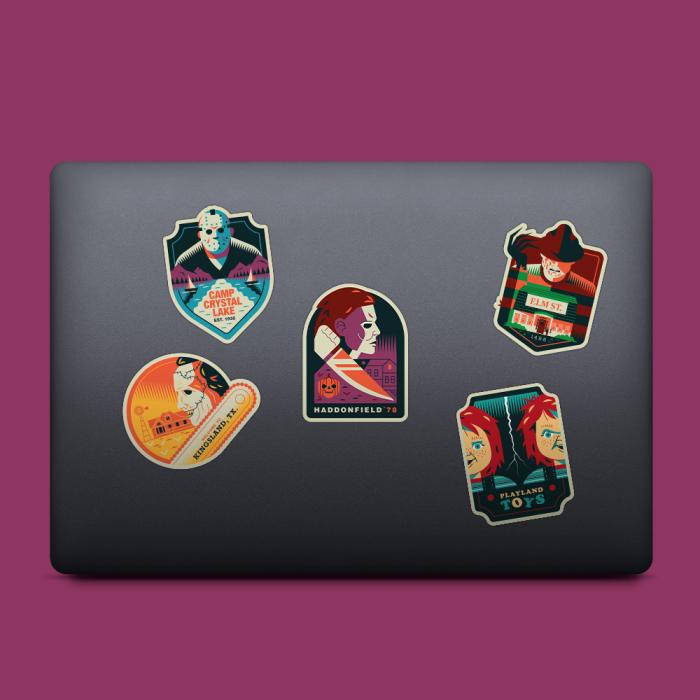 Slasher sticker pack by salmorejo studio macbook